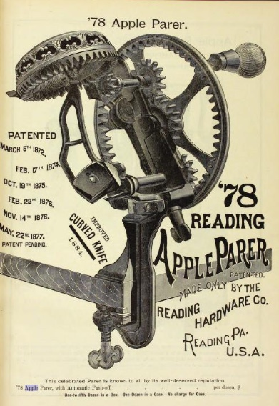 Reading 78 Apple Parer